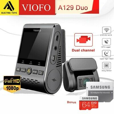 Viofo A129 Duo 2Lens Dash Camera Twin SONY Star Sensr 5GHz WIFI GPS+Hardwire kit