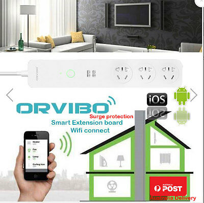 ORVIBO WiFi Smart Home Extension Sockets Switches Remote Control Timing Australi