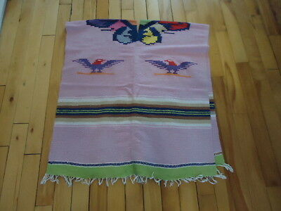 vintage Hand Woven  Southwestern  PONCHO with Thunderbird blanket