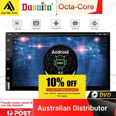 """6.95"""" inch Octa-Core Android 8 Double Din 4G+32G Rom Stereo 2Din GPS Navi DVD !!"""