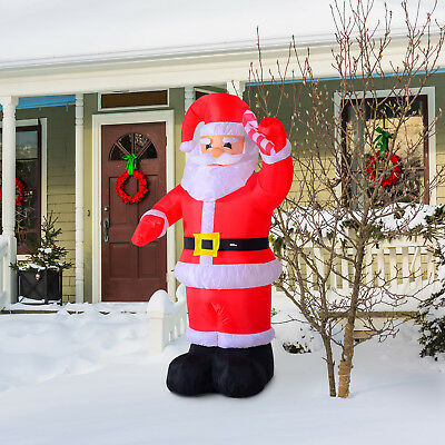 HOMCOM Inflatable Christmas Santa Claus Air Blown Decoration Lawn Yard Decor