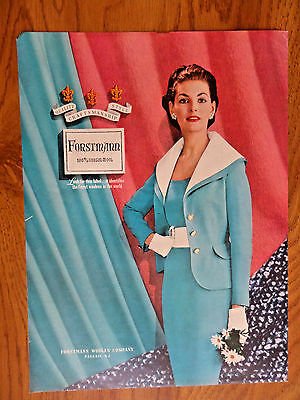 1954 Forstmann 100% Virgin Wool Fashion Ad  Jewelry
