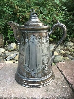 Victorian Wilcox Britannia Co. 1700 Silver Plate Double Wall Pitcher