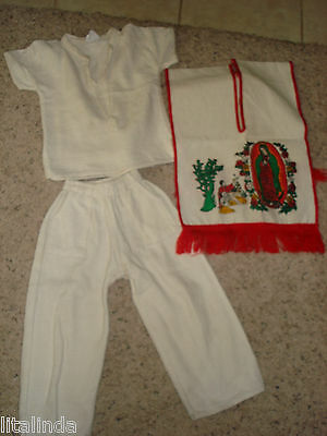 Religous Mexican Juan Diego 3  Pieces Outfit For Toddler  Pre-Owned