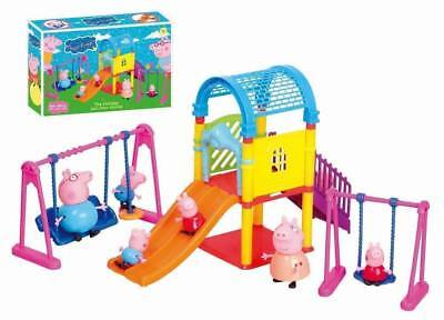 HOT Peppa Pig Playground Children's Slide Swing Play Set With Figures Xmas Gift