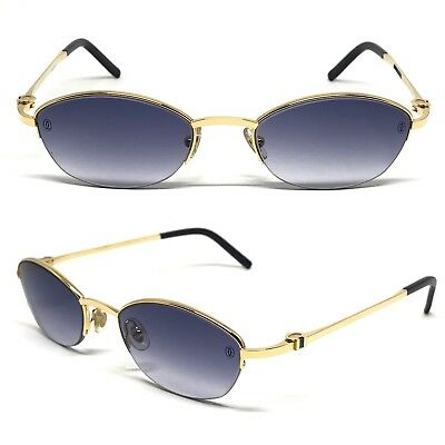 Occhiali Cartier Anakie T8100514 Sapphire Frame Eyewear Glasses 18Kt Gold Plated