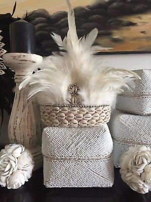 Boho Tribal Indian Feather & Shell Head Dress / Crown Home Decor