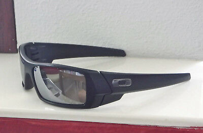 59de2ae6c7 New Oakley Gascan Sunglasses Matte Black   Custom Polarized Chrome Irid w  Gun O