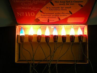Vintage Christmas  Lights - Noma C6 Decorative Lighting Outfit With Rare Box
