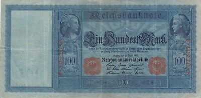 Banknote 1910 Germany 100 marks, lovely