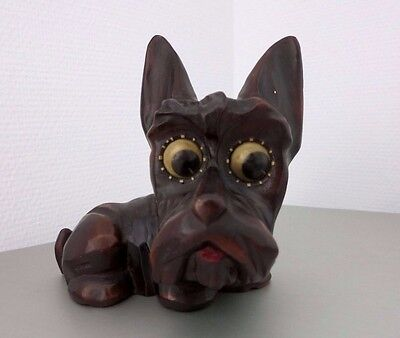 EARLY OSWALD ROLLNG EYE CLOCK_SCOTTY DOG_1930 - 1940 Germany_ART DECO_WORKING_