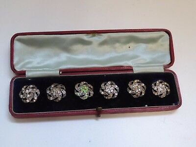 Boxed Set of Early 20th Century Paste Buttons