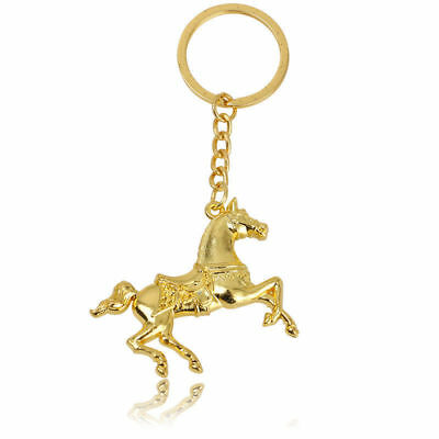 DIY Fashion Titanium Horse Key Chain Car Keychain Ring Keyfob Metal Keyring