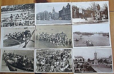 Job Lot 9 Early Vintage Real Photographic  Postcards