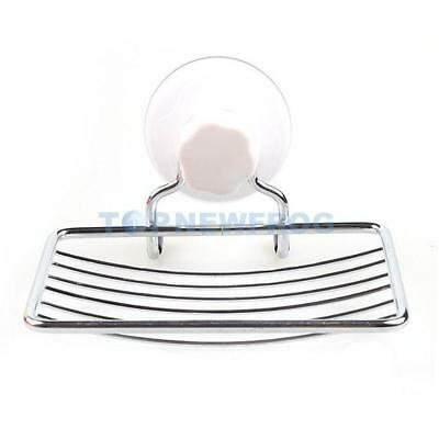 Fashion Strong Suction Bathroom Shower Accessory Soap Dish Holder Cup Tray  TN2F