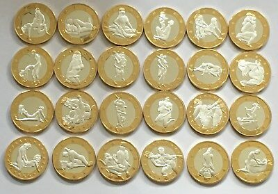 24Pcs Sex 6 Euros Out Of 34Pcs Kama Sutra Gold Coin Nude Model Collection Gift
