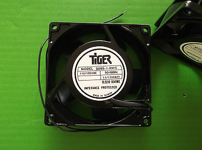 Fan 90mm 110  Volts ac Fans Cooling 92 x92x 25mm Sleeve Bearings Wires x 1pc ONO