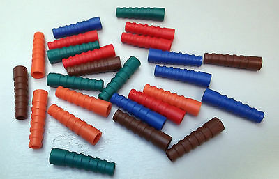 Coax BNC Boots Strain Relief Boot RG59 RG62 PSF1/3M Colours x 25pcs MIXED ONO