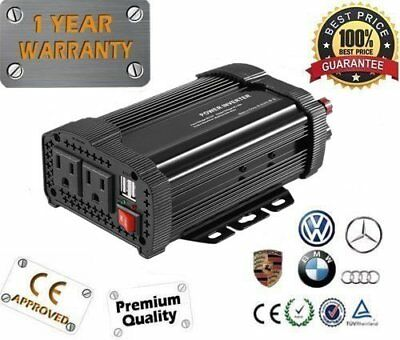 New 2000W Peak DC12V to AC 110V Solar Power Inverter Converter USB Output F5