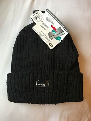 Men Black 3M Thinsulate Thermal Cap  Knit Beanie Hat Thermal Ski Hats Fleece