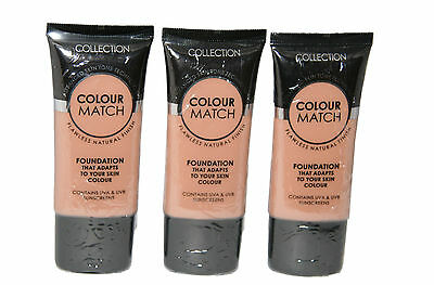 6 x Collection Colour Match Foundation Tubes | Golden | RRP £18| Wholesale
