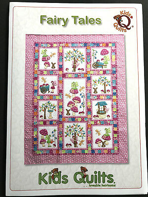 Fairy Tales In Pink Child's Single/twin  Quilt Applique Pattern By Kids Quilts