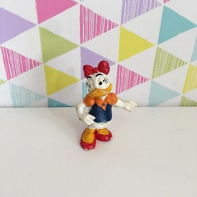 1986 Vintage Disney Bullyland Daisy Duck Standing Bully Character Figure 2.5''