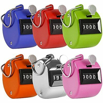 AFUNTA Pack Lap Counters Of Color Hand Held Tally Digit Mechanical Palm Clicker