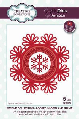 Creative Expressions  Festive Collection Looped Snowflake Frame