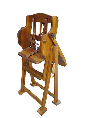 NEW Sturdy Adjustable Acacia Hi Lo High Chair, 5 Point Safety Harness, Non-toxic