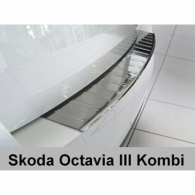DCP Stainless steel rear bumper protector for Skoda Octavia III Estate 2013>