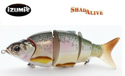 Rare IZUMI Shad Alive 145 Swimbait FAST SINKING Fishing lure Jointed bait Tackle