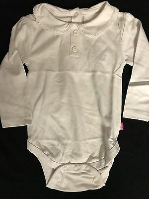 girls long sleeve white jojo Bodyvest/polo shirt
