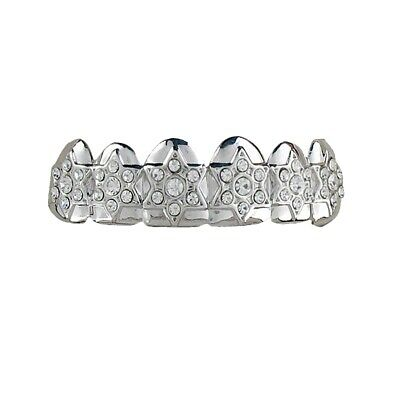 Grillzz Faux Diamond Star Top Row HipHop Bling Grillzz