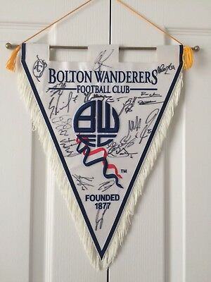 Bolton Wanderers Embroidered Signed Pennant 2007