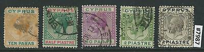 #7987 CYPRUS Sc#61-63,92-92 Used King Edward VII 1912/1924 Combine Shipping