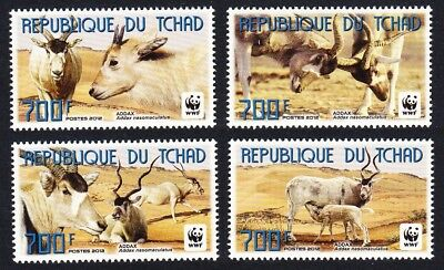 Chad WWF Addax set of 4v