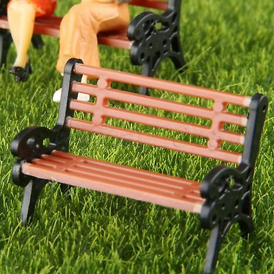 5x Model Park Benches Plain Train Scenery O-Gauge 1:50 Scale