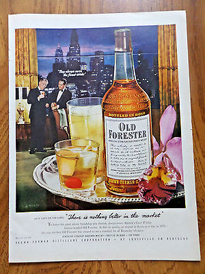1951 Old Forester Whiskey Ad  There is Nothing Better in the Market
