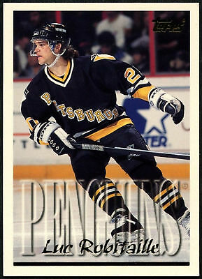 Luc Robitaille #40 Pittsburgh Penguins Topps 1995-6 Ice Hockey Card (C531)