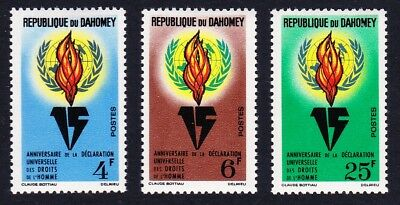 Dahomey Declaration of Human Rights 3v SG#201-203 SC#182-184