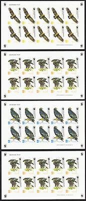 Georgia Birds WWF Greater Spotted Eagle 4 Sheetlets imperf SG#509-512 SC#412-415