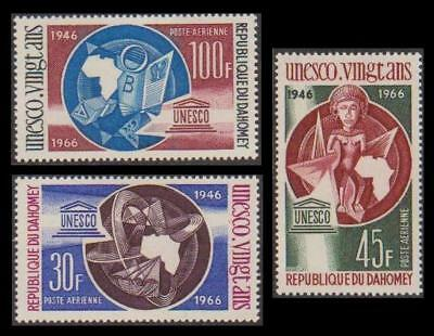 Dahomey 20th Anniversary of UNESCO 3v SG#264-266 SC#C43-C45