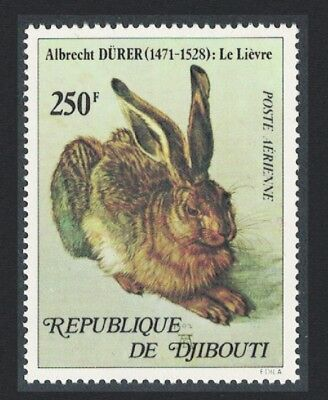Djibouti  The Hare' Painting by Albrecht Durer 1v 250 Fr SG#740
