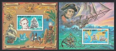 Djibouti Death Bicentenary 1979 of Captain James Cook 2 MSs SG#799-800