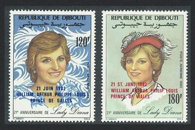 Djibouti Birth of Prince William of Wales 2v SG#858-859