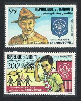 Djibouti 125th Birth Anniversary of Lord Baden-Powell 2v SG#851-852