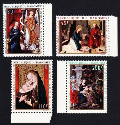 Dahomey Christmas Paintings 4v issue 1969 SG#384-387 SC#C109-C112