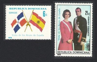 Dominican Rep. Visit of King and Queen of Spain 2v SG#1260-1261