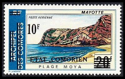 Comoro Is. Overprint 'Etat Comorien' 10 Fr on 20 Fr SC#C69 MI#230